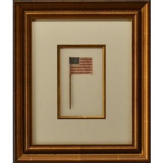 Antique American Flag 14 Stripes, Framed For Sale