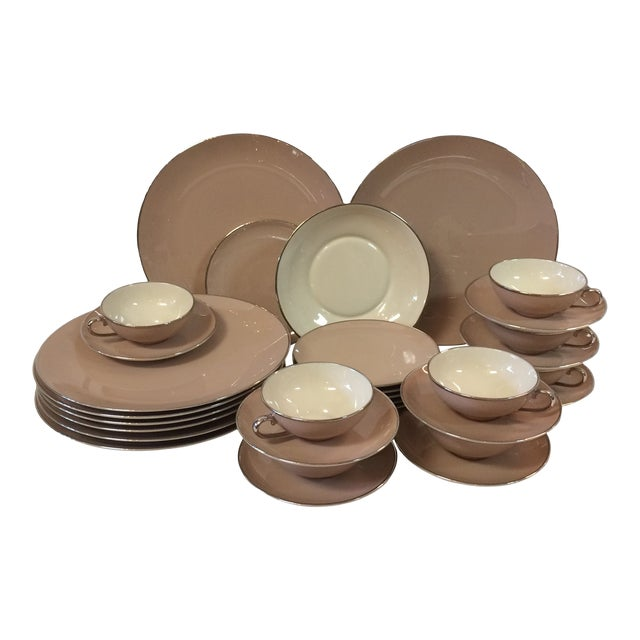 Franciscan China Sandal Wood Pattern by Gladding McBean - 32 Piece For Sale