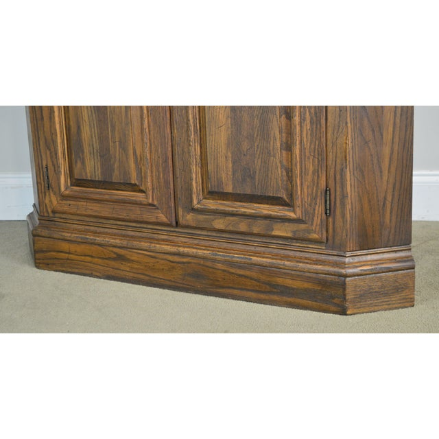 Ethan Allen Royal Charter Oak Corner Cabinet For Sale - Image 10 of 13