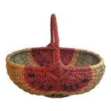 Image of Vintage Wicker Watermelon Basket For Sale