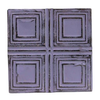 Purple Squares Tin Panel For Sale