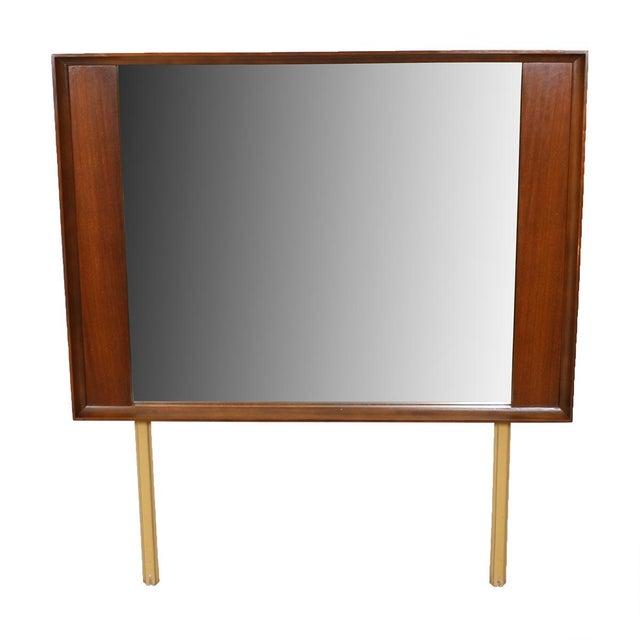 Mid-Century Modern Walnut Mirror For Sale