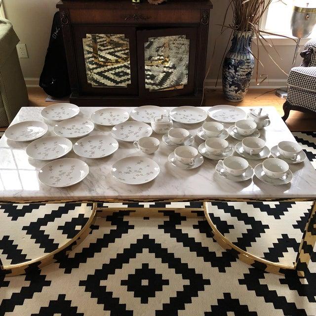 Porcelain Schonwald Dandelion Tea Cups Set - Set of 32 For Sale - Image 10 of 11