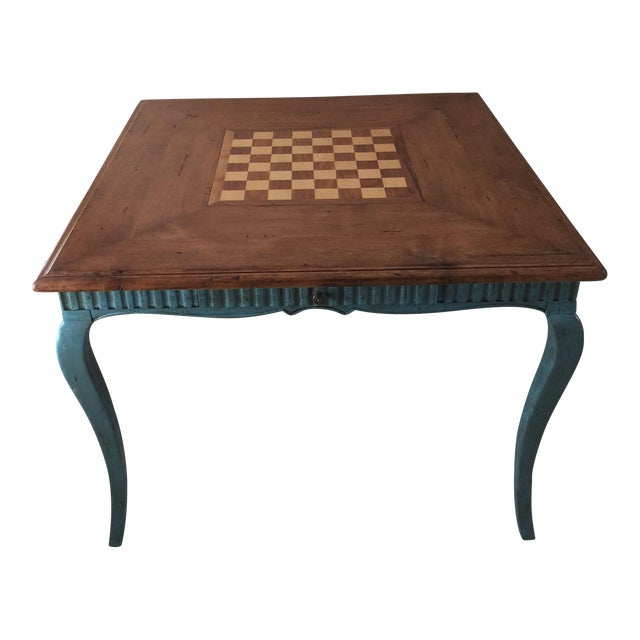 French Country Game Table - Image 1 of 7