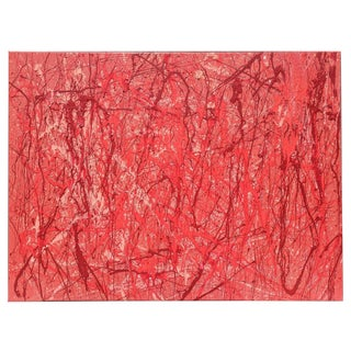 Large Scale Abstract Expressionist Red and Pink Painting For Sale