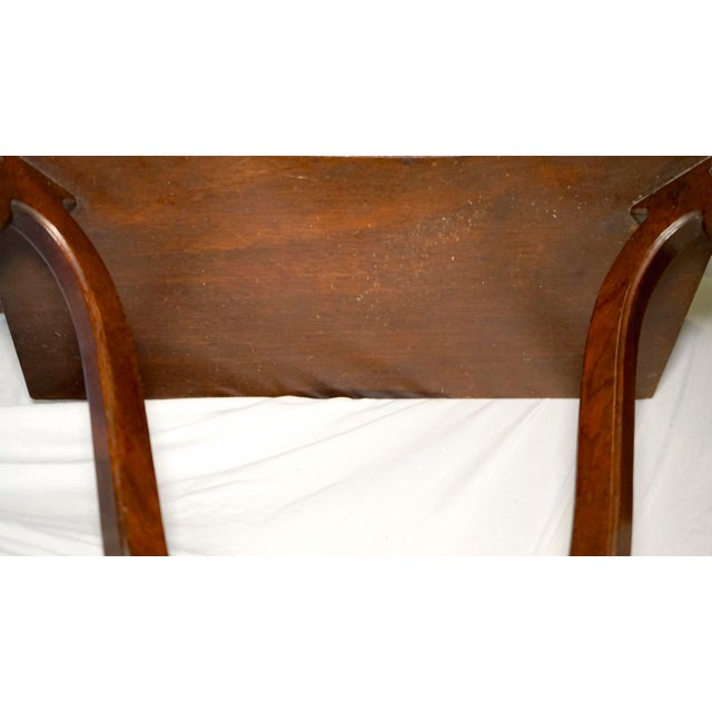 1960s Mahogany Vintage Hanging Wall Mount Scalloped Bracket Console For Sale - Image 5 of 10