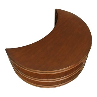 Mid-Century Modern Henredon Furniture 1945 Gugenheim Dark Walnut Crescent Occasional Table For Sale