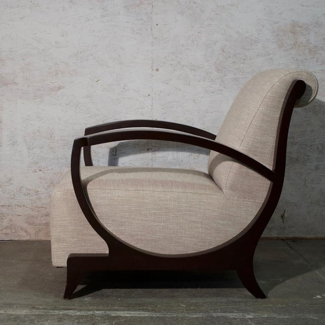 1940s Art Deco Club Chair and Ottoman For Sale - Image 5 of 9