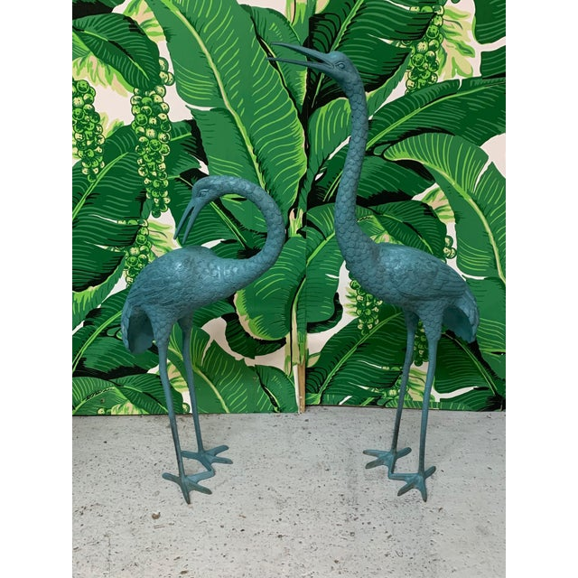Large Steel Egret Bird Statues, a Pair For Sale In Jacksonville, FL - Image 6 of 6