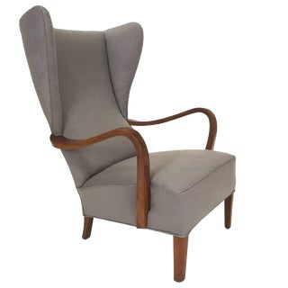 Vintage Mid Century Wingback Lounge Chair For Sale