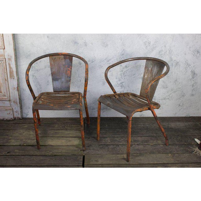 Pair of French Tolix Chairs With Original Paint Finish - Image 2 of 11