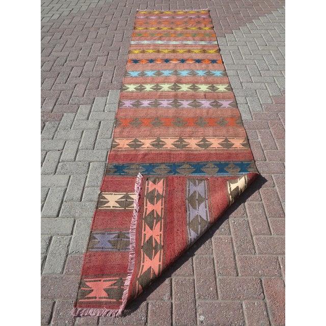 "Vintage Anatolian Handmade Kilim Runner-3'x11'4"" For Sale - Image 12 of 13"