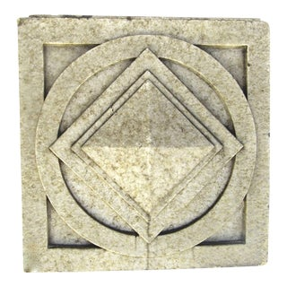 Denver Pottery Works Glazed Terra Cotta Square Fragment For Sale