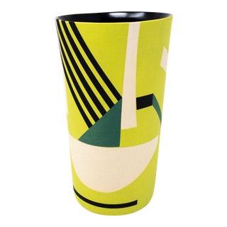 Mid-Century Style Handmade Ceramic Tumbler - Green For Sale