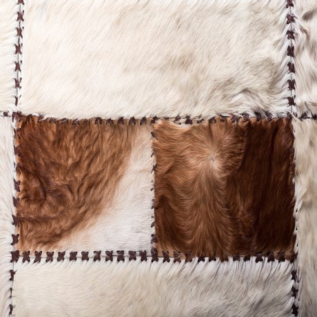 """Aydin Cowhide Patchwork Accent Area Rug - 6'0"""" x 6'7"""" - Image 4 of 9"""