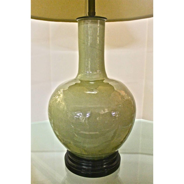 Beautiful Large Marbro Chinese Celadon Lamp For Sale In Los Angeles - Image 6 of 6