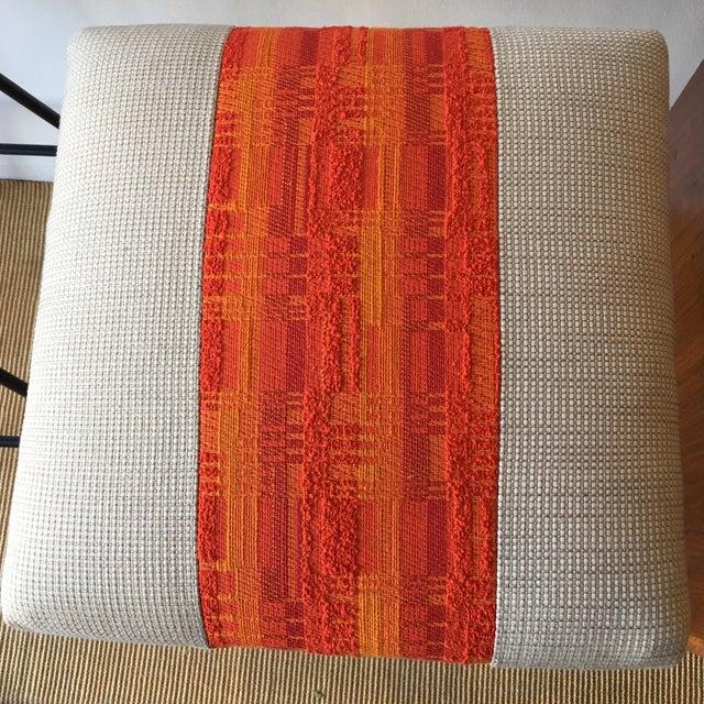 1950s Orange Striped Barstools - A Pair - Image 6 of 9