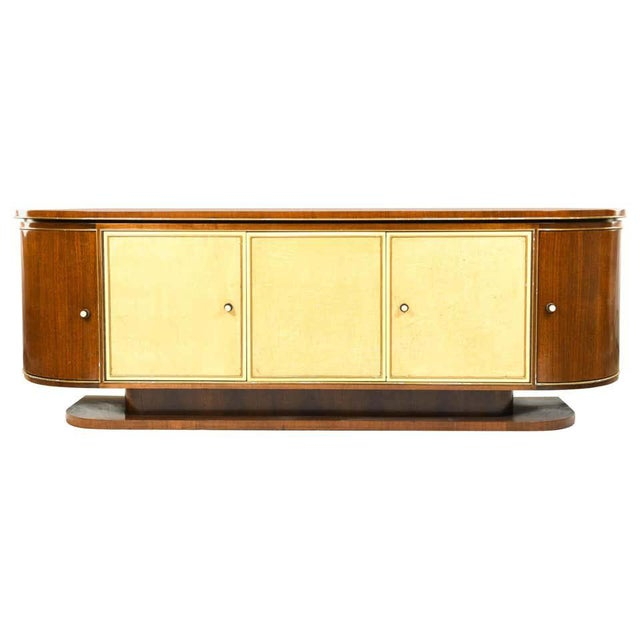 French Art Deco Sideboard or Credenza With Parchment Front, Monumental For Sale - Image 13 of 13