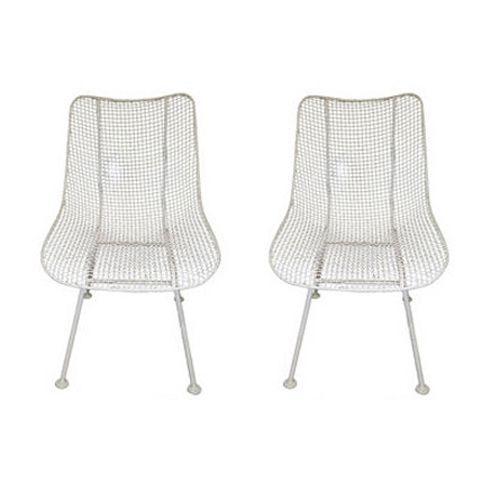 Vintage Metal Woodard Sculptura Chairs - A Pair - Image 2 of 2