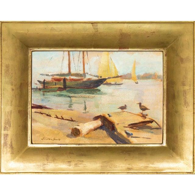 'Harbor Mist' by Jonathan Scott Circa 1960, Laguna Beach Art Association, Aws, Pasadena Art Museum For Sale - Image 11 of 11