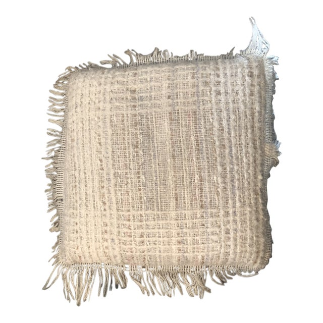 Vintage Hand Woven Irish Wool Pillow For Sale