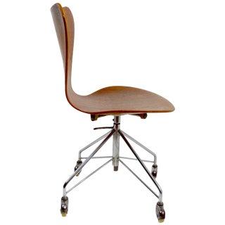 Arne Jacobsen for Fritz Hansen Swivel Desk Chair Model 3117 For Sale