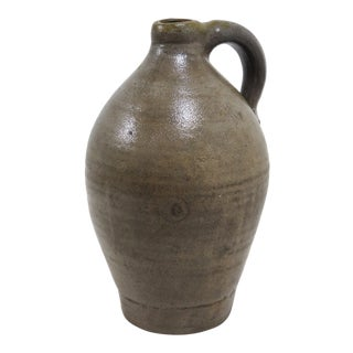 1850s Small Early American Stoneware Liquor Jug For Sale