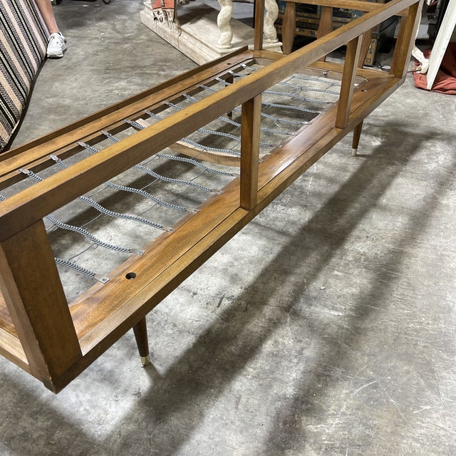 Wood Mid Century Walnut Sofa Daybed Yugoslavia For Sale - Image 7 of 11