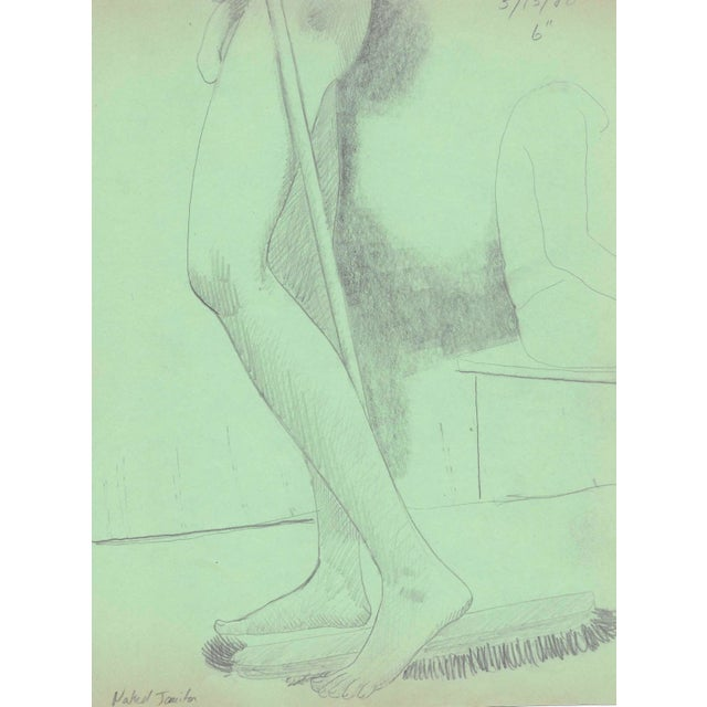 Realism Naked Janitor Make Nude by James Bone For Sale - Image 3 of 3