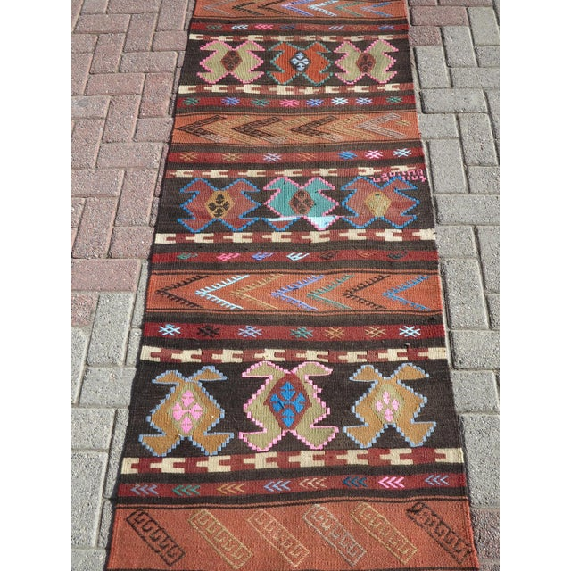"Rug & Kilim Vintage Turkish Kilim Runner-2'6'x10"" For Sale - Image 4 of 13"