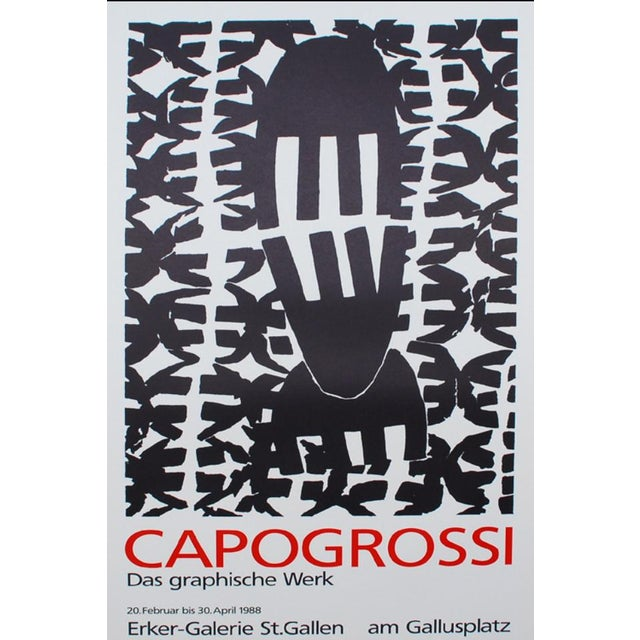 1980s 1988 Giuseppe Capogrossi Exhibition Poster For Sale - Image 5 of 5