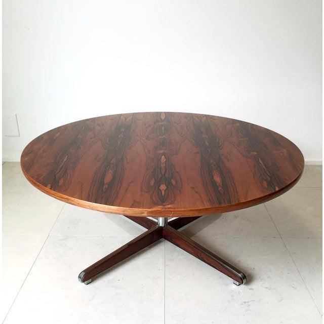 Danish Modern Rosewood Circular Coffee Table - Image 2 of 6
