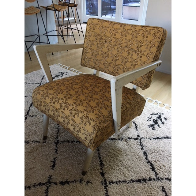 Vintage Mid-Century Upholstered Arm Chair For Sale - Image 4 of 8