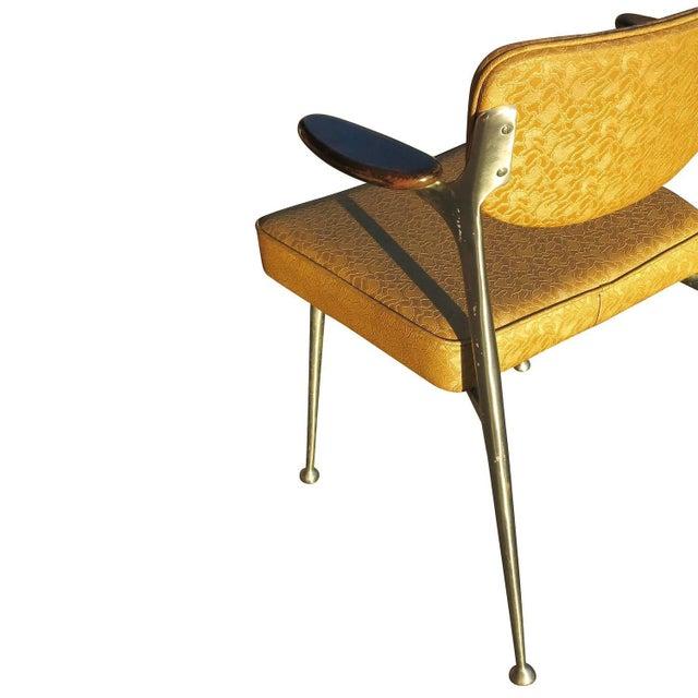 Aluminum Gazelle Armchairs- Set of 4 - Image 6 of 8