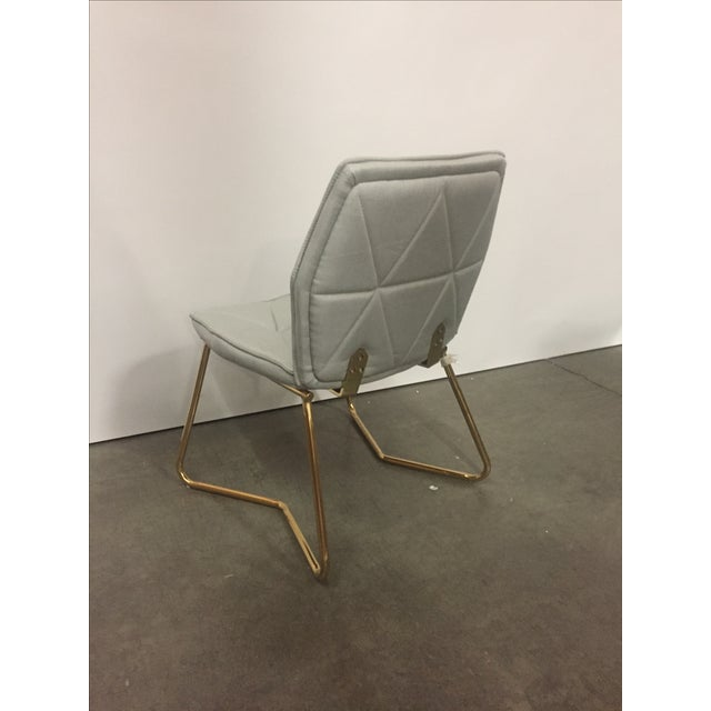 2010s Tally Gold Chrome Dining Chair For Sale - Image 5 of 5