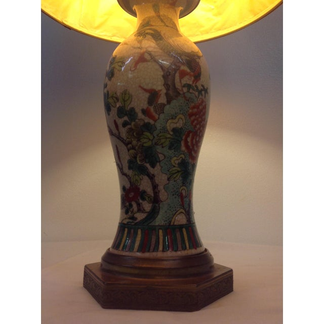 Antique Porcelain Asian Style Table Lamp - Image 4 of 9