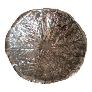 Aluminum Cabbage Style Serving Bowl For Sale