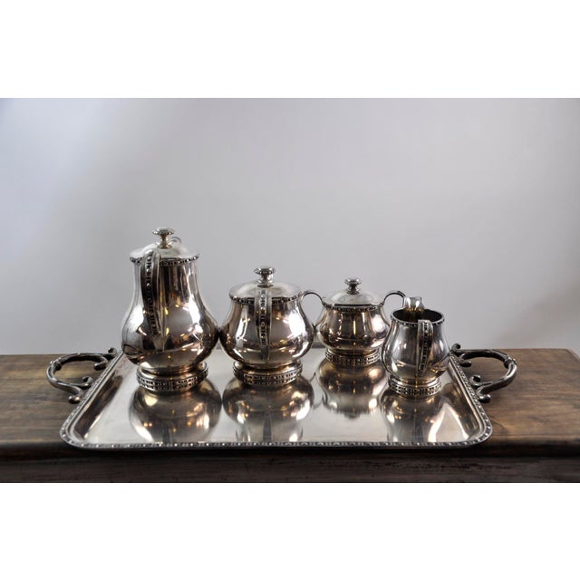 Art Nouveau French Silverplated Coffee Tea Serving Set - 5 Pieces For Sale - Image 3 of 12