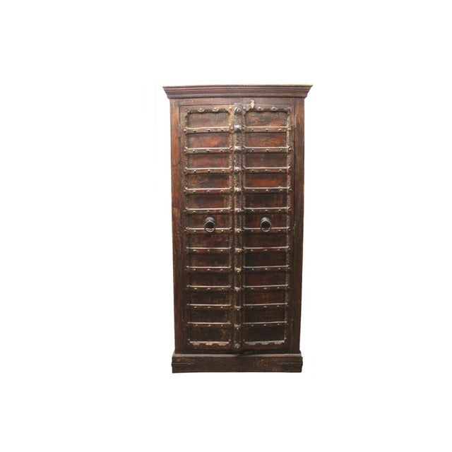 Custom Antique Indian Cabinet - Image 2 of 5