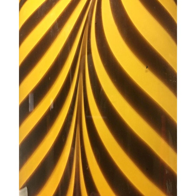 Glass Italian 1950s Dino Martens Mid-Century Modern Zebra Art Glass Vase For Sale - Image 7 of 8