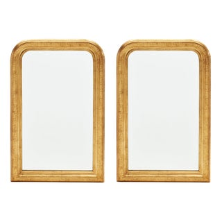 Louis Philippe Period Greek Key Gold Framed Mirrors - a Pair For Sale
