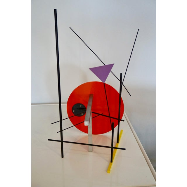 1980s Memphis Style Abstract Sculpture by Peter Shire For Sale - Image 5 of 6