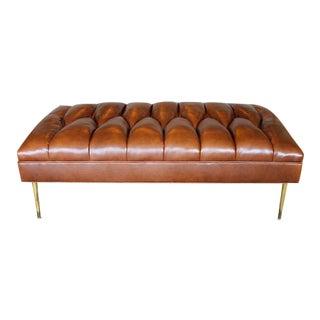 Modern Henri Brown Ottoman For Sale