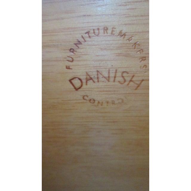 1960s Danish Modern Drop Front Desk For Sale - Image 10 of 13