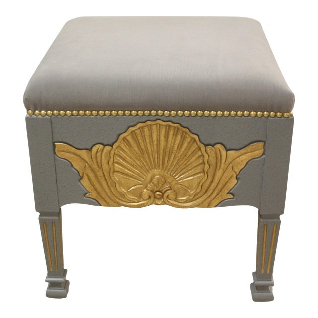 Shell Carvings Swedish Stool For Sale