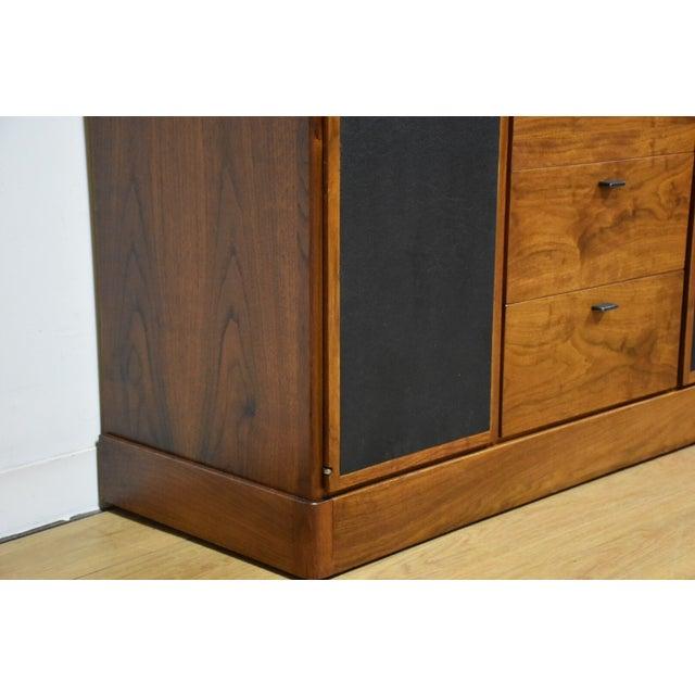 Walnut and Black Vinyl Armoire Dresser - Image 7 of 11