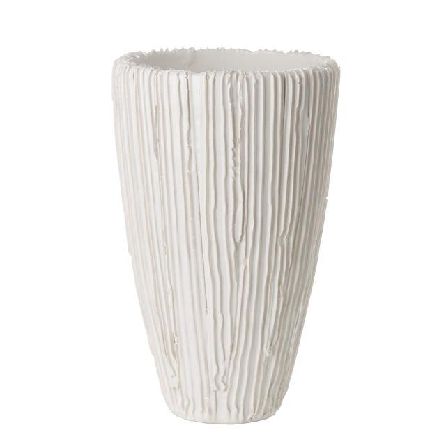 White Alpine Cone Vase For Sale