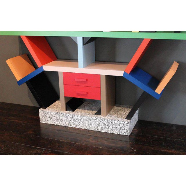 Memphis Group Early Carlton Bookcase Roomdivider by Ettore Sottsass for Memphis, 1981 For Sale - Image 4 of 10