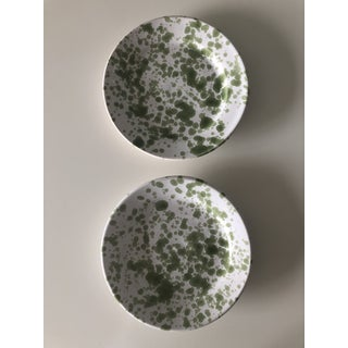 Penny Morrison Green Speckled Ceramic Plates - a Pair Preview