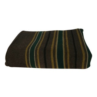19th C. Striped Carriage Blanket For Sale